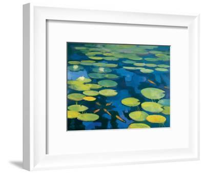 Lily Pond with Koi-Michael Clark-Framed Art Print