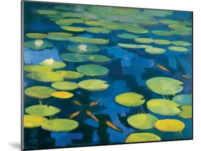 Lily Pond with Koi-Michael Clark-Mounted Art Print