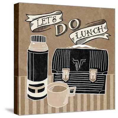 Lets Do Lunch Taupe-Mary Urban-Stretched Canvas Print
