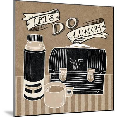 Lets Do Lunch Taupe-Mary Urban-Mounted Art Print