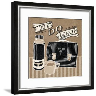 Lets Do Lunch Taupe-Mary Urban-Framed Art Print