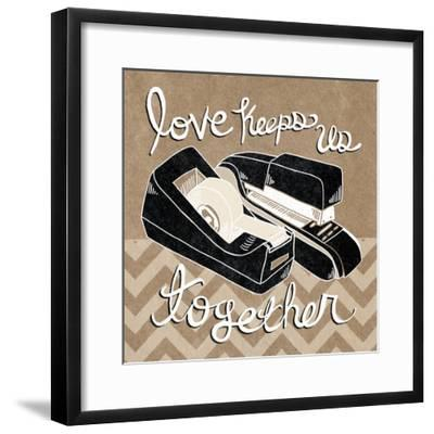 Love Keeps Us Together Taupe-Mary Urban-Framed Art Print