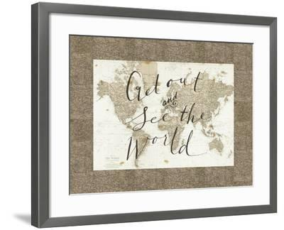 Get Out and See the World Border-Sara Zieve Miller-Framed Art Print