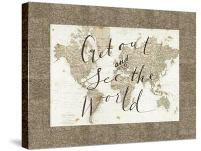 Get Out and See the World Border-Sara Zieve Miller-Stretched Canvas Print