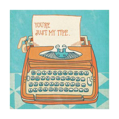 Youre My Type Orange-Mary Urban-Framed Art Print