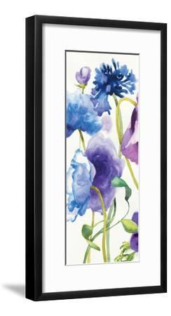Blue and Purple Mixed Garden I Panel I-Shirley Novak-Framed Art Print