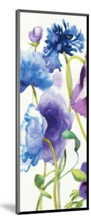 Blue and Purple Mixed Garden I Panel I-Shirley Novak-Mounted Art Print