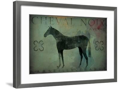 Cheval Noir v1-Ryan Fowler-Framed Art Print