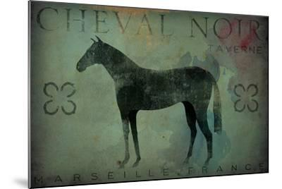 Cheval Noir v1-Ryan Fowler-Mounted Art Print
