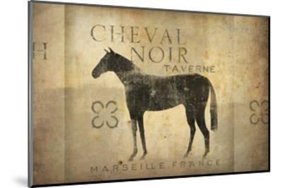 Cheval Noir v4-Ryan Fowler-Mounted Art Print