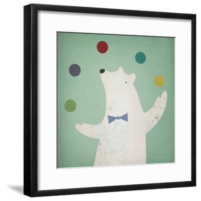 Circus Polar Bear-Ryan Fowler-Framed Art Print
