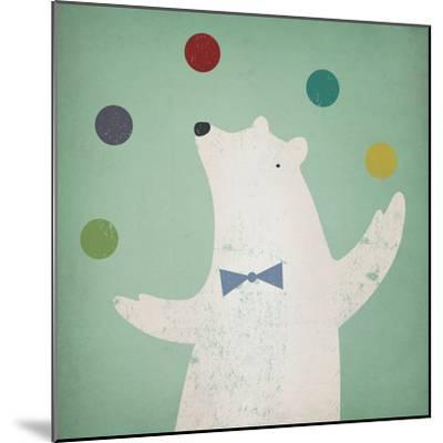 Circus Polar Bear-Ryan Fowler-Mounted Art Print