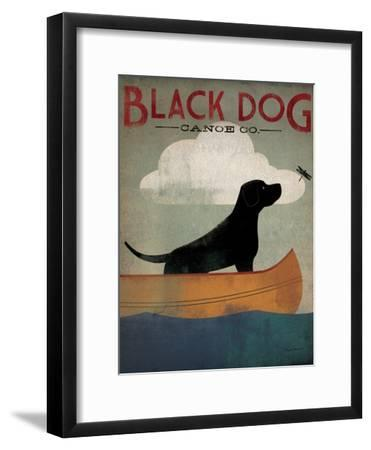 Black Dog Canoe-Ryan Fowler-Framed Art Print