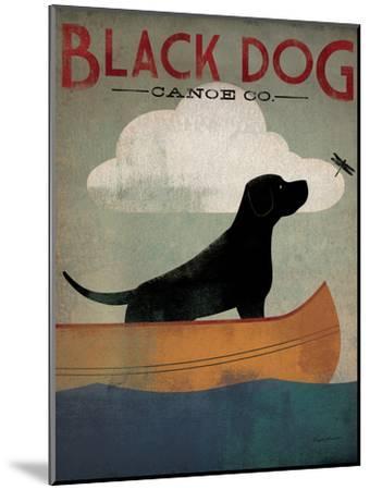 Black Dog Canoe-Ryan Fowler-Mounted Art Print