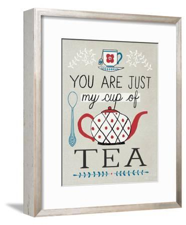 Cup of Tea-Oliver Towne-Framed Premium Giclee Print