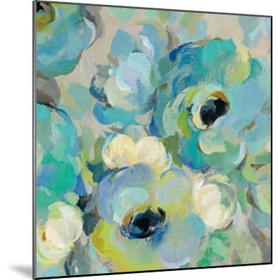 Fresh Teal Flowers III-Silvia Vassileva-Mounted Art Print