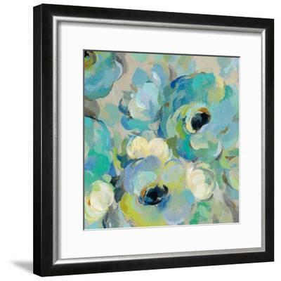 Fresh Teal Flowers III-Silvia Vassileva-Framed Art Print