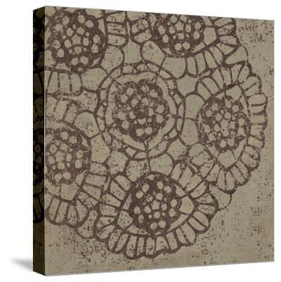 Contemporary Lace V Spice-Moira Hershey-Stretched Canvas Print