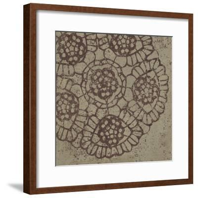 Contemporary Lace V Spice-Moira Hershey-Framed Art Print