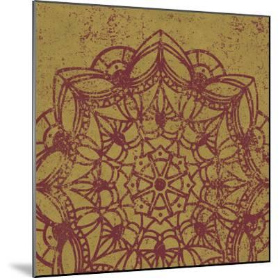 Contemporary Lace IV Spice-Moira Hershey-Mounted Art Print