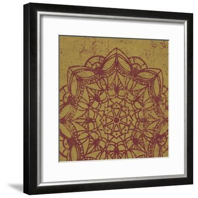 Contemporary Lace IV Spice-Moira Hershey-Framed Art Print
