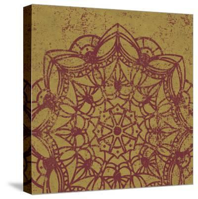 Contemporary Lace IV Spice-Moira Hershey-Stretched Canvas Print