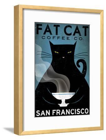 Cat Coffee-Ryan Fowler-Framed Art Print