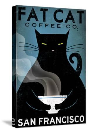 Cat Coffee-Ryan Fowler-Stretched Canvas Print