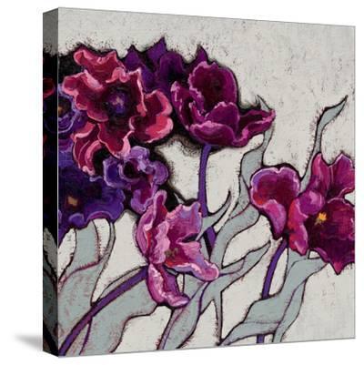 Ruffled Tulips-Shirley Novak-Stretched Canvas Print