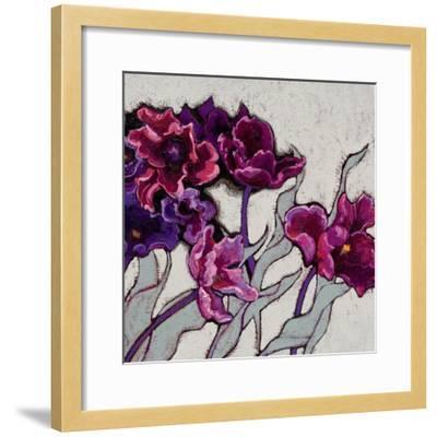 Ruffled Tulips-Shirley Novak-Framed Art Print