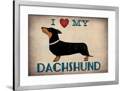 IDachshund Longboards - Love v2-Ryan Fowler-Framed Art Print