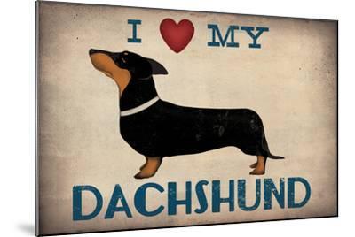 IDachshund Longboards - Love v2-Ryan Fowler-Mounted Art Print
