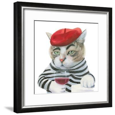 Cattitude III-Myles Sullivan-Framed Art Print