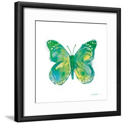 Birdsong Garden Butterfly I on White-Shirley Novak-Framed Art Print