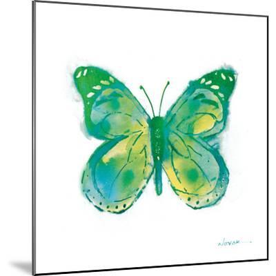 Birdsong Garden Butterfly I on White-Shirley Novak-Mounted Art Print