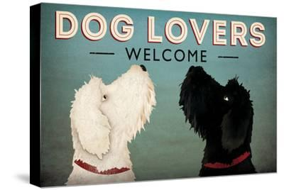 Doodle Dog Lovers Welcome-Ryan Fowler-Stretched Canvas Print