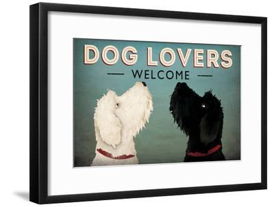 Doodle Dog Lovers Welcome Art Print By Ryan Fowler Artcom