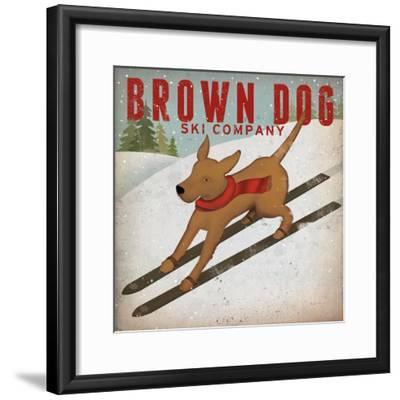 Brown Dog Ski Co-Ryan Fowler-Framed Art Print