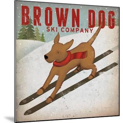 Brown Dog Ski Co-Ryan Fowler-Mounted Art Print
