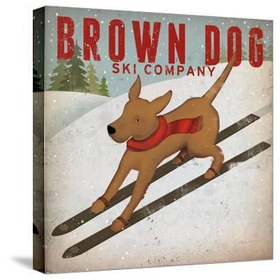 Brown Dog Ski Co-Ryan Fowler-Stretched Canvas Print