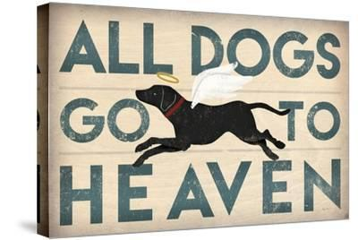 All Dogs Go to Heaven I-Ryan Fowler-Stretched Canvas Print