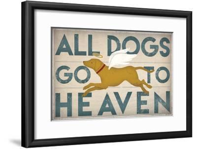 All Dogs Go to Heaven III-Ryan Fowler-Framed Art Print