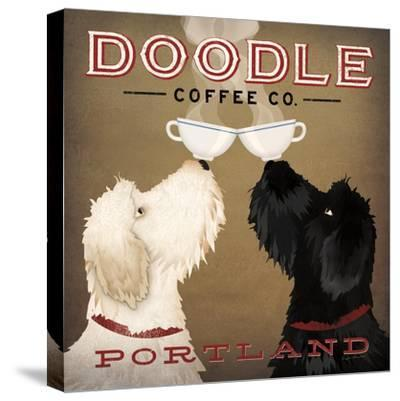 Doodle Coffee Double IV Portland-Ryan Fowler-Stretched Canvas Print