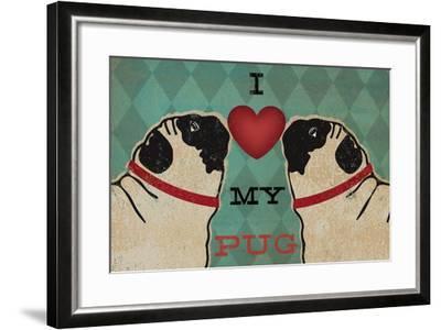 Pug and Pug - I Love My Pug-Ryan Fowler-Framed Art Print