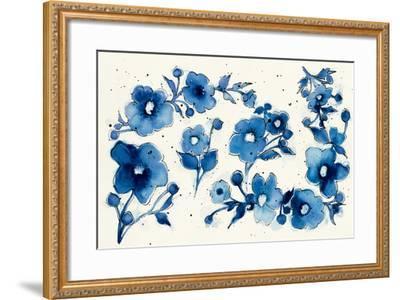 Independent Blooms Element V-Shirley Novak-Framed Art Print