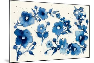 Independent Blooms Element V-Shirley Novak-Mounted Art Print