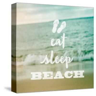 Eat Sleep Beach-Sue Schlabach-Stretched Canvas Print