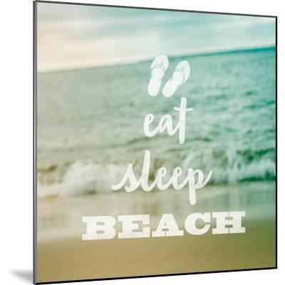 Eat Sleep Beach-Sue Schlabach-Mounted Art Print