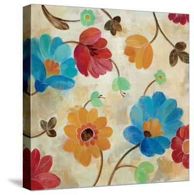 Coral and Teal Garden I-Silvia Vassileva-Stretched Canvas Print