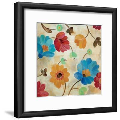 Coral and Teal Garden I-Silvia Vassileva-Framed Art Print